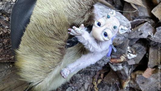 """Сказочные персонажи ручной работы. Ярмарка Мастеров - ручная работа. Купить Авторская кукла """"Садовый эльфик - Бо-Ро-Ро """". Handmade."""