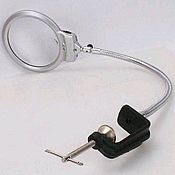 Материалы для творчества handmade. Livemaster - original item Magnifying glass table with lighting (2 LED) MG15124-1C. Handmade.