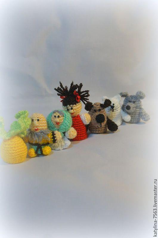 """Кукольный театр ручной работы. Ярмарка Мастеров - ручная работа. Купить Пальчиковый театр"""" Репка"""". Handmade. Разноцветный, пальчиковые игрушки"""