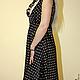 Silk polka dot dress