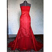 Свадебный салон ручной работы. Ярмарка Мастеров - ручная работа Свадебное платье в стиле русалка красного цвета Жасмин. Handmade.