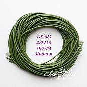 Материалы для творчества handmade. Livemaster - original item Soft vinyl tube 1.5 mm and 2 mm for stems of flowers. Handmade.