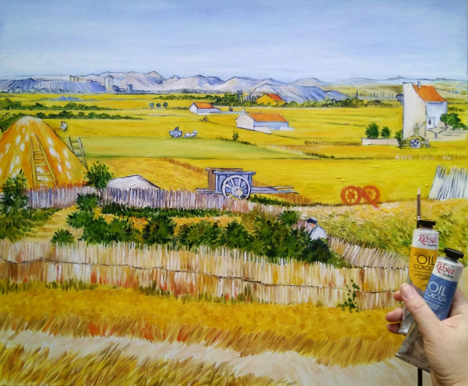 Oil painting the Harvest (Harvest. 1888) a Copy of van Gogh's work, Pictures, Zhitomir,  Фото №1