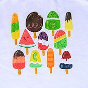 Одежда handmade. Livemaster - original item T-shirt, top for girls, funny drawing. Handmade.