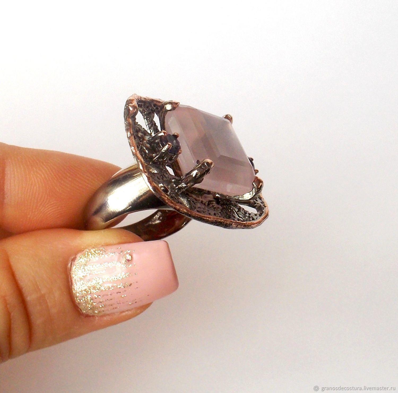 Ring with rose quartz, Rings, Krasnodar,  Фото №1