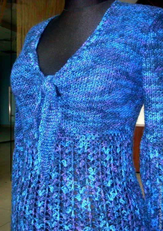 Sweatshirts & Sweaters handmade. Livemaster - handmade. Buy Jumper 'Blue jeans'.Handmade, fine knit