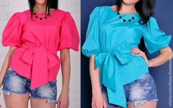 367b1ea9f72 Хлопковая блуза с рукавом-фонарик – купить в интернет-магазине на ...