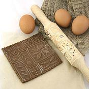 Для дома и интерьера ручной работы. Ярмарка Мастеров - ручная работа Скалка для печенья скалка для пряников в подарок по любому поводу. Handmade.