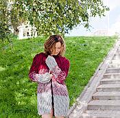 Одежда ручной работы. Ярмарка Мастеров - ручная работа Кардиган с переходом цвета. Handmade.