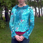 Одежда ручной работы. Ярмарка Мастеров - ручная работа Жакет валяный Бирюза. Handmade.