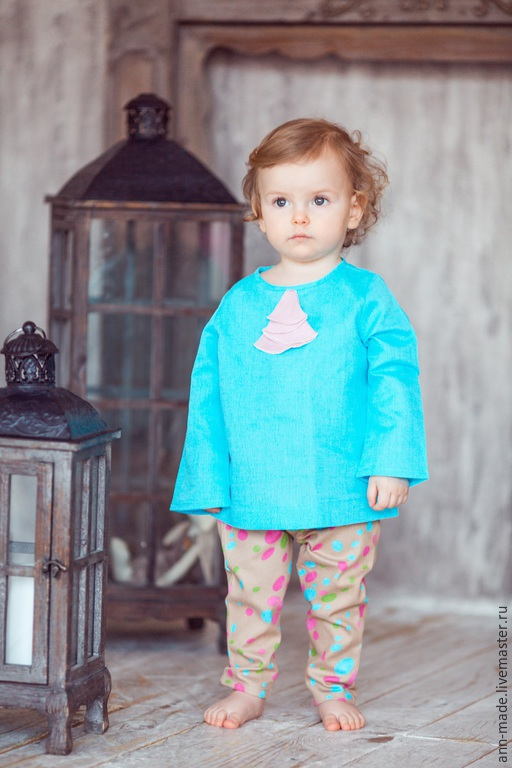 Одежда для девочек, ручной работы. Ярмарка Мастеров - ручная работа. Купить Джинсы  (Арт.: Д- 49b) и Блузка  (Арт.: Д- 64). Handmade.