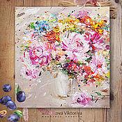Картины и панно ручной работы. Ярмарка Мастеров - ручная работа Репродукция «Я собрала их для тебя» 60/50см. Handmade.