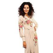 Одежда ручной работы. Ярмарка Мастеров - ручная работа Женственное платье макси из тонкого трикотажа ,  2 цвета. Handmade.