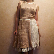 handmade. Livemaster - original item Knitted Dress Spring in boho style. Handmade.