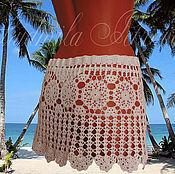 Одежда ручной работы. Ярмарка Мастеров - ручная работа Пляжная юбочка вязаная. Handmade.