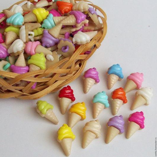 """Шитье ручной работы. Ярмарка Мастеров - ручная работа. Купить """"Мороженое"""" декоративные пуговицы. Handmade. Пуговица, декоративные пуговицы"""