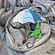 """Броши ручной работы. Заказать Брошь """" Зонтик под зонтом"""", вязаная брошка.. Ирина Ключенко, 'Всё свяжется!' (o-key24). Ярмарка Мастеров."""