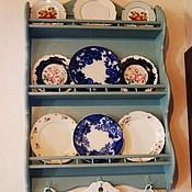 Для дома и интерьера ручной работы. Ярмарка Мастеров - ручная работа Полка навесная для тарелок. Handmade.