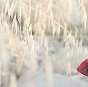 Аксессуары ручной работы. Ярмарка Мастеров - ручная работа Вишневая шелковая Рапсодия  Шарф валяный на шелке бордо синий купить. Handmade.