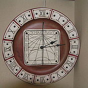 Для дома и интерьера ручной работы. Ярмарка Мастеров - ручная работа часы солнечные. Handmade.