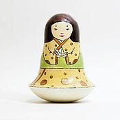 Подарки к праздникам ручной работы. Ярмарка Мастеров - ручная работа Неваляшка с птичкой-оригами. Handmade.