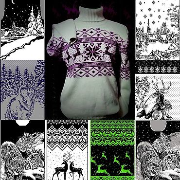 Clothing handmade. Livemaster - original item Tattoo-sweater at the ready and your drawings .Yarn and color to choose. Handmade.