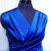 Одежда handmade. Livemaster - original item Blouses with smell Lucy S, M, L // Italian silk. Handmade.