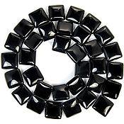 Материалы для творчества ручной работы. Ярмарка Мастеров - ручная работа Агат черный квадрат 12 мм - 18 мм. Handmade.