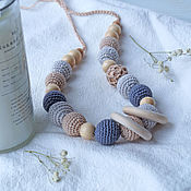 Одежда handmade. Livemaster - original item Slingobusy, A gift to a young mother, Gray-beige with rings. Handmade.