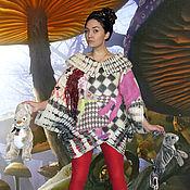 """Одежда ручной работы. Ярмарка Мастеров - ручная работа Туника валяная """"Алиса в стране чудес"""". Handmade."""