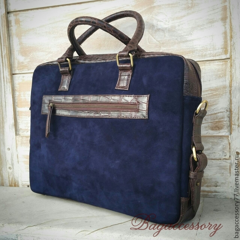 Briefcase made of genuine leather in crocodile leather, Brief case, Moscow,  Фото №1