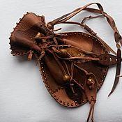 """Подарки к праздникам ручной работы. Ярмарка Мастеров - ручная работа кожаные мешочки для хранения украшений """"Лесная нимфа"""". Handmade."""