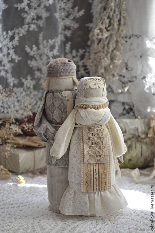 """Народные куклы ручной работы. Ярмарка Мастеров - ручная работа. Купить кукла-оберег Мурашинская парочка """"Семейное счастье"""".. Handmade."""
