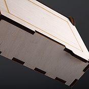 Сувениры и подарки handmade. Livemaster - original item Wooden box, size 19h10h4,4,  cm. IMF0006. Handmade.