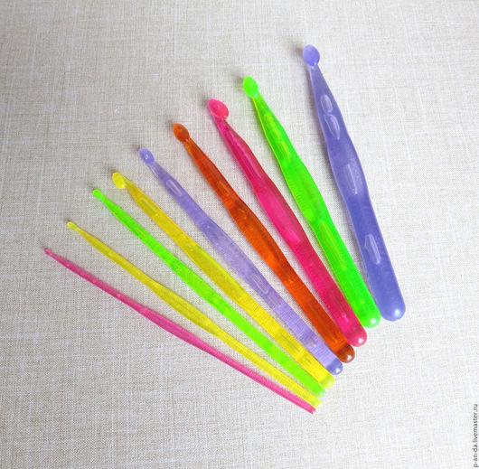 Вязание ручной работы. Ярмарка Мастеров - ручная работа. Купить Набор 3-12 мм пластиковых крючков для вязания 9 штук. Handmade.