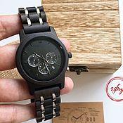 Часы наручные ручной работы. Ярмарка Мастеров - ручная работа Деревянные часы с гравировкой. Handmade.