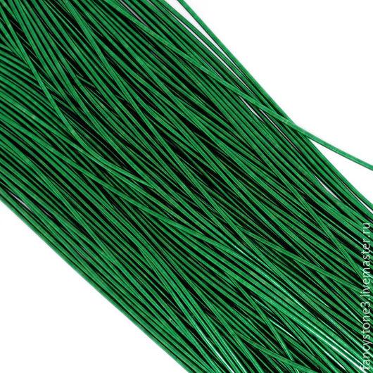 Для украшений ручной работы. Ярмарка Мастеров - ручная работа. Купить Канитель гладкая 1мм, цвет Темно-зеленый, Индия. Handmade.