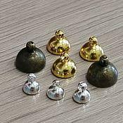 Материалы для творчества handmade. Livemaster - original item Caps for beads metal Art. ShB12. Handmade.