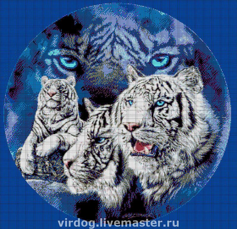 """НАБОР для вышивки БИСЕРОМ   """"Тигры"""", Схемы для вышивки, Москва, Фото №1"""