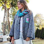Одежда handmade. Livemaster - original item Jacket (jacket) Roses, chenille, denim. Handmade.