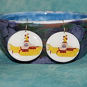 Украшения handmade. Livemaster - original item Earrings Yellow Submarine Yellow submarine Beatles The Beatles. Handmade.