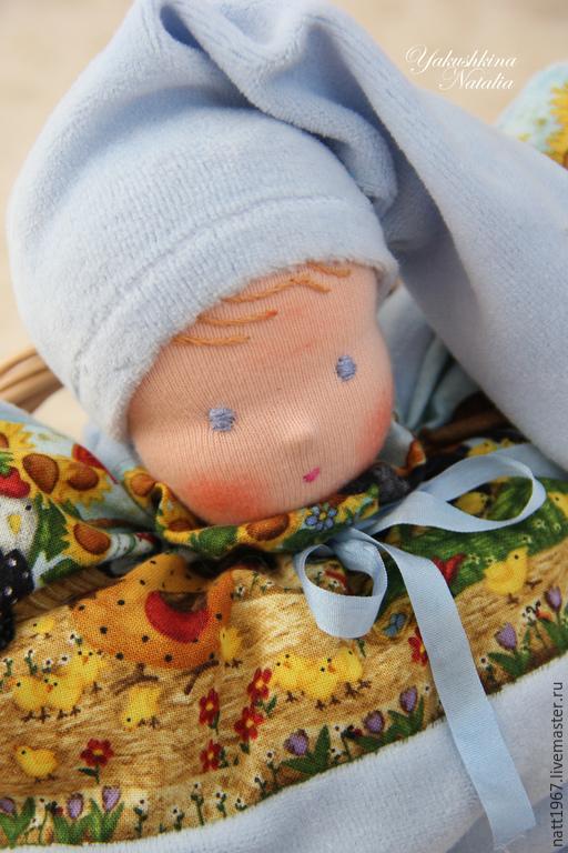 Вальдорфская игрушка ручной работы. Ярмарка Мастеров - ручная работа. Купить Вальдорфская кукла-бабочка. Handmade. Голубой, игрушка в подарок