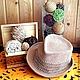 """Шапки и шарфы ручной работы. Ярмарка Мастеров - ручная работа. Купить Шляпа """"Соломенная"""" для мальчика. Handmade. Бежевый, шляпа вязаная"""