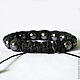 Fashion Shamballa bracelet leather hematite stone. Talisman. Amulet. Guardian