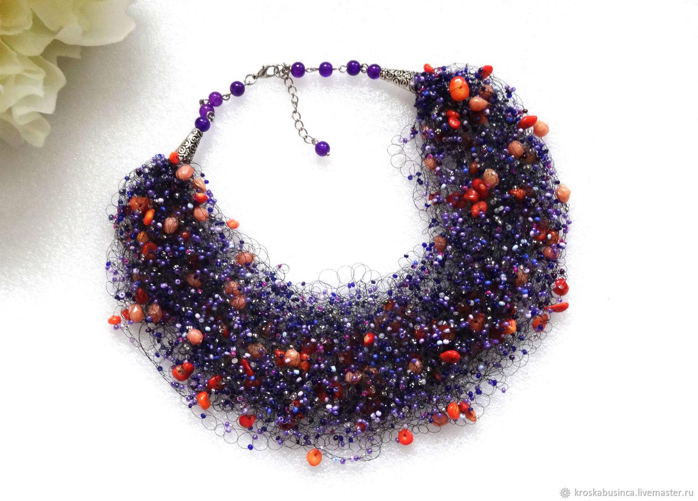 77643f627ce09 Necklaces & Beads handmade. Livemaster - handmade. Buy Necklace beads airy  'Harmony' ...