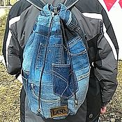 Сумки и аксессуары handmade. Livemaster - original item Backpack denim LEE. Handmade.