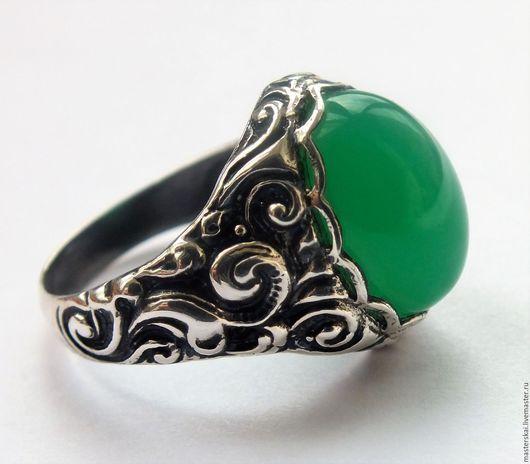 """Кольца ручной работы. Ярмарка Мастеров - ручная работа. Купить Кольцо """"Сказочная тайга""""- хризопраз, серебро 925. Handmade. Зеленый"""