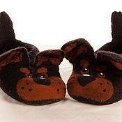 """Обувь ручной работы. Ярмарка Мастеров - ручная работа Войлочные тапочки """"Трезорки"""". Handmade."""
