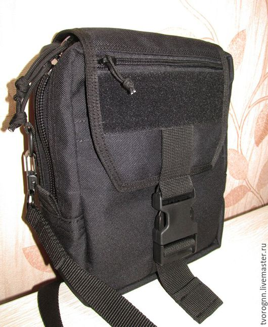 Мужские сумки ручной работы. Ярмарка Мастеров - ручная работа. Купить Наплечная сумка. Handmade. Тёмно-зелёный, металл