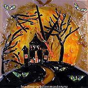 """Для дома и интерьера ручной работы. Ярмарка Мастеров - ручная работа Хеллоуин """"Halloween"""" (стекло, фьюзинг). Handmade."""
